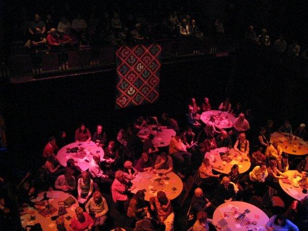 Theatre in cabaret set-up