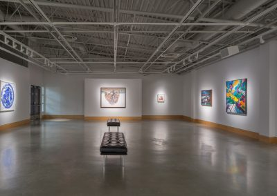 Installation view of Look This Way, exhibition at the Art Gallery at Evergreen, 2015. Photography: Blaine Campbell.