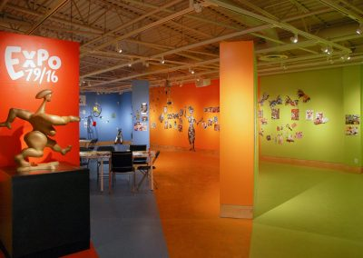 Installation view of EXPO 79-16, exhibition at the Art Gallery at Evergreen, 2016, Photo Blaine Campbell1