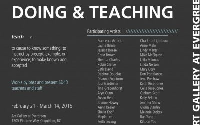 DOING & TEACHINGFeb 21, 2015 - Mar 14, 2015