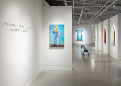 Installation view, Judith M. Atkinson The Return of the Goddess, exhibition at Art Gallery at Evergreen, 2018, Rachel Topham Photography (1)