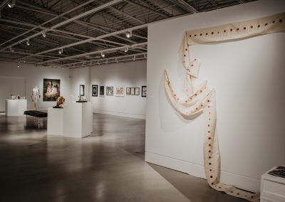 Installation view of Emerging Talent 22, exhibition at the Art Gallery at Evergreen, 2019, Photo: Jessica Fowlis.