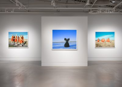 Installation view of Amalie Atkins where the hour floats, exhibition at the Art Gallery at Evergreen, Rachel Topham Photography