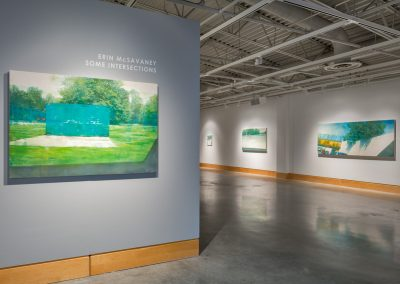 Installation view of Erin McSavaney: Some Intersections, exhibition at the Art Gallery at Evergreen, 2014. Photograph: Blaine Campbell.