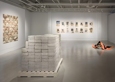 Installation view of Mantle, exhibition at the Art Gallery at Evergreen, 2019. Photo Rachel Topham Photography