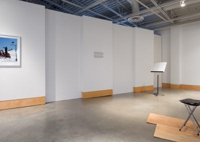 Installation view of Paul Walde: Requiem for a Glacier, exhibition at the Art Gallery at Evergreen, 2014. Photography: Blaine Campbell.